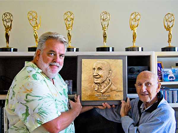Ed Voelkel with Emmy Award winner and Hollywood Producer Bob Stewart