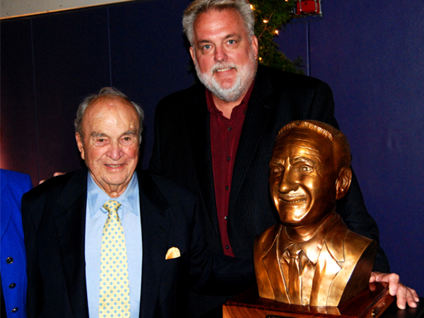 Ed Voelkel with Henry Trione at the unveiling of Charles Chop Demeo's bust