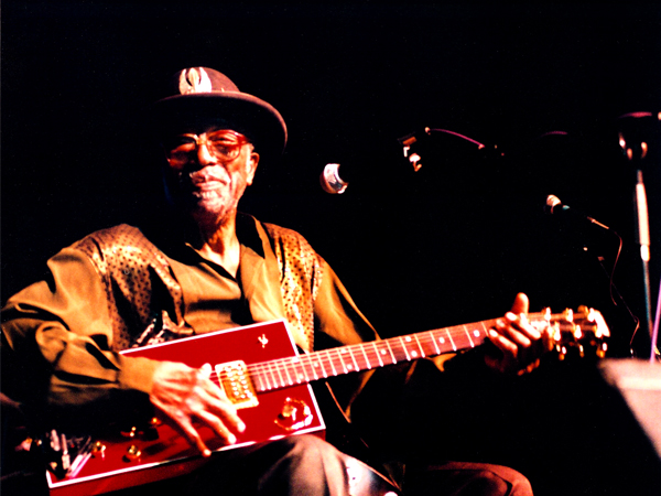 Rock and Roll R and B singer and guitarist Bo Diddley