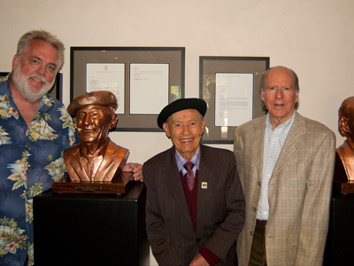 The unveiling of Austin Hills' bronze bust.
