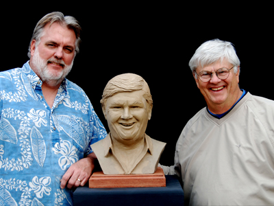 Sculptor Ed Voelkel with Dave Stare