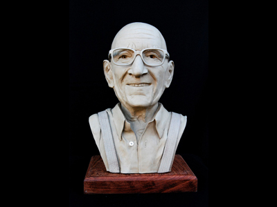 Clay portrait of Eugene Cuneo