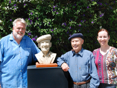The unveiling of Miljenko Mike Grgich's bronze bust.